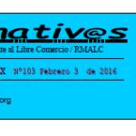 Boletín electrónico ALTERNATIVAS 103